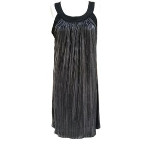 Tiana B Black and Silver Shimmery Dress